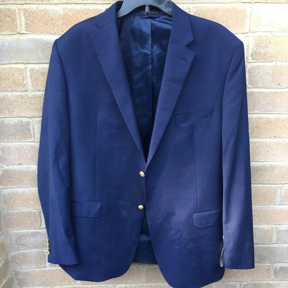 Men's Ralph Lauren Navy/Cobalt Sport Coat 42L NWT